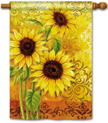 Magnet Works House Flag   Sunflower Days Decorative Flag At Garden House  Flag At GardenHouseFlags