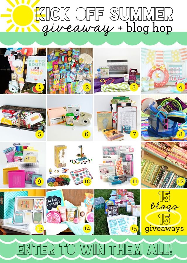 Kick-Off Summer Gift Basket Giveaway // Tatertots & Jello Blog #kickoffsummer15: Kicks Off Summer, Summer Gifts Baskets, Printable Valentines, Summer Giveaways, Amazons Gifts, Families Movie, Loom Bands, Movie Night, Baskets Giveaways
