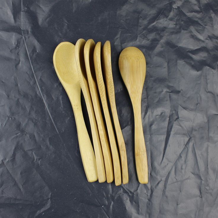 20PCS kitchen accessories High quality natural wood spoon bamboo Porridge honey colher Cutlery teaspoon small wooden spoon