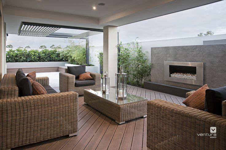 Alfresco patio backyard design. The Providence display home by #VenturaHomes #outdoorheating