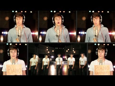 The song Rolling in the Deep by Adele sung by Mike Tompkins...he does the whole song with just his voice and body! all the music! its awesome!