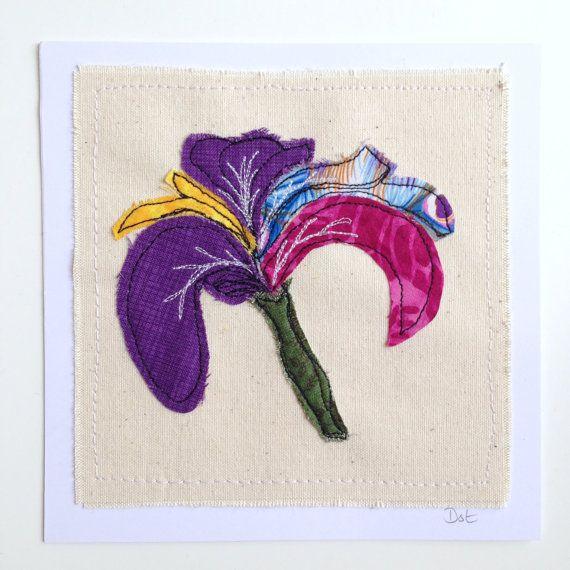 IRIS Blume gerahmte Wand Kunst Bild Geschenk von DottyOnline