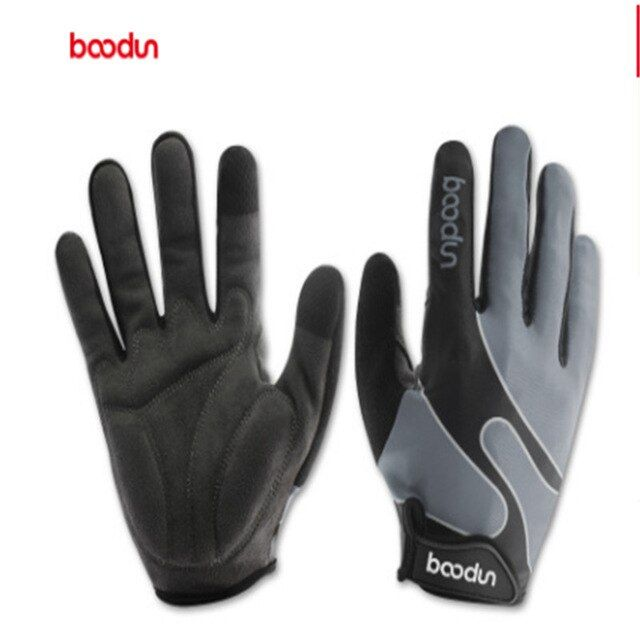 Boodun Bicycle Long Fingered Riding Gloves Outdoor Sports Leica