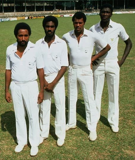 Andy Roberts, Michael Holding, Colin Croft and Joel Garner: the four horsemen of the apocalypse.