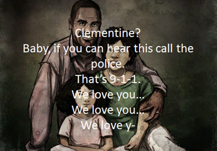 One of the saddest moments which is overlooked in The Walking Dead as it is in the beginning - this is the last voicemail message Clementine's mum sent. Last time she said 'I love you'. I cried a little at this point...