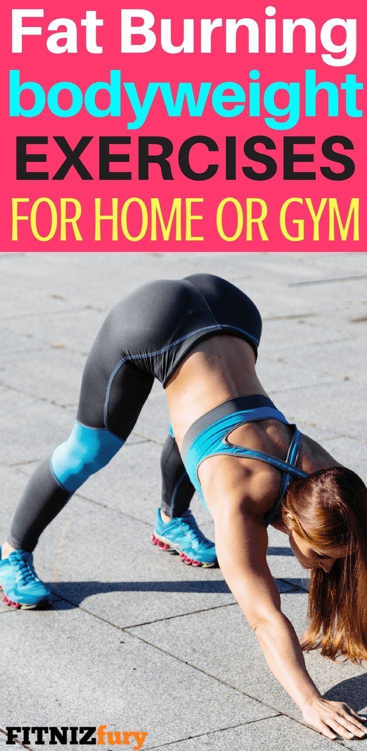 Fat burning bodyweight exercises for home or gym #fatburningexercise #bodyweightexercise #exerciseshome #lowimpactexercises #calorieburningexercise