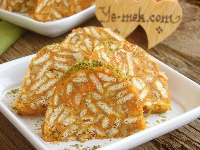 Havuçlu Mozaik Pasta | Carrot Mosaic Cake Recipe