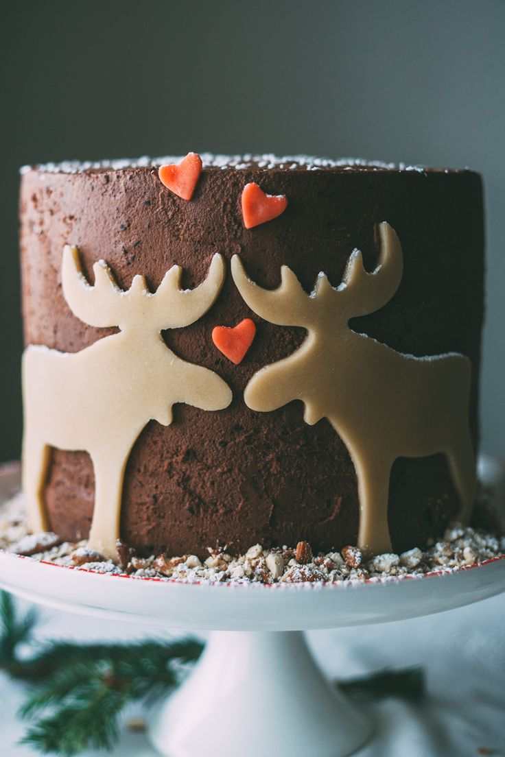 marzipan moose mousse cake recipe and instructions. Merry Christmoose! (no offense intended)