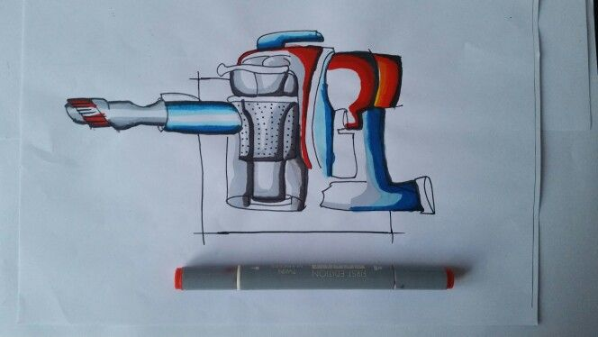 DAY 20: VACUUM CLEANER USING MARKERS.