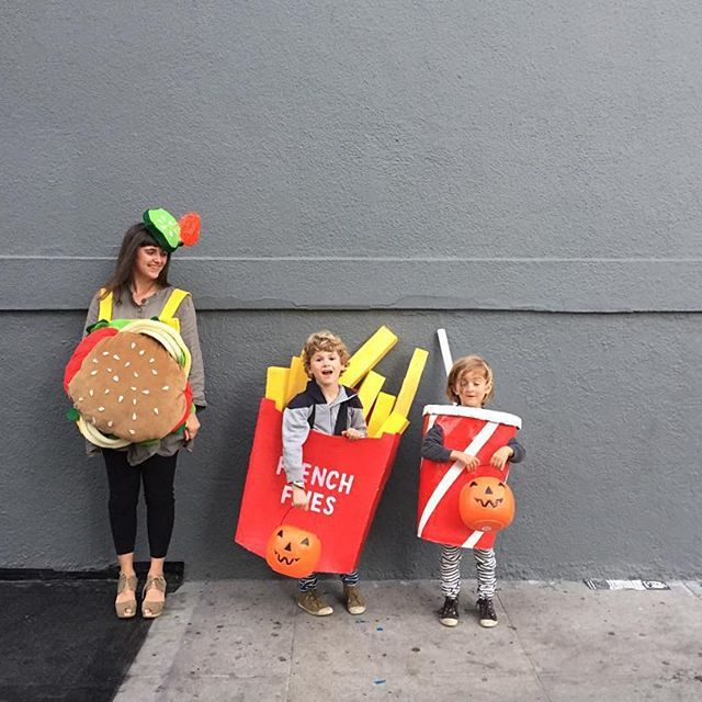 Happy Halloween! All our costumes were homemade (but not by me!) hamburger by @iween_yu and the fries and shake by @colleencasper