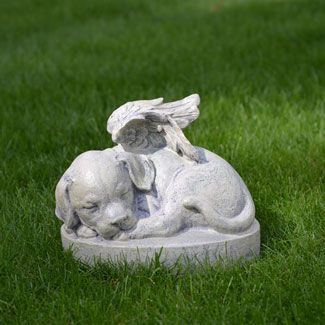Dog Statues   Puppy Angel For My Copper