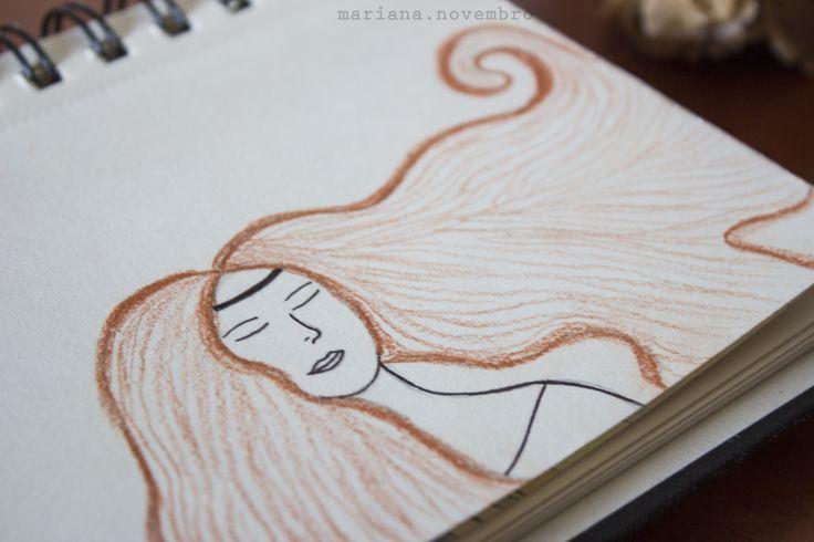 * o teu cabelo de fogo *  ilustração: Mariana Reis