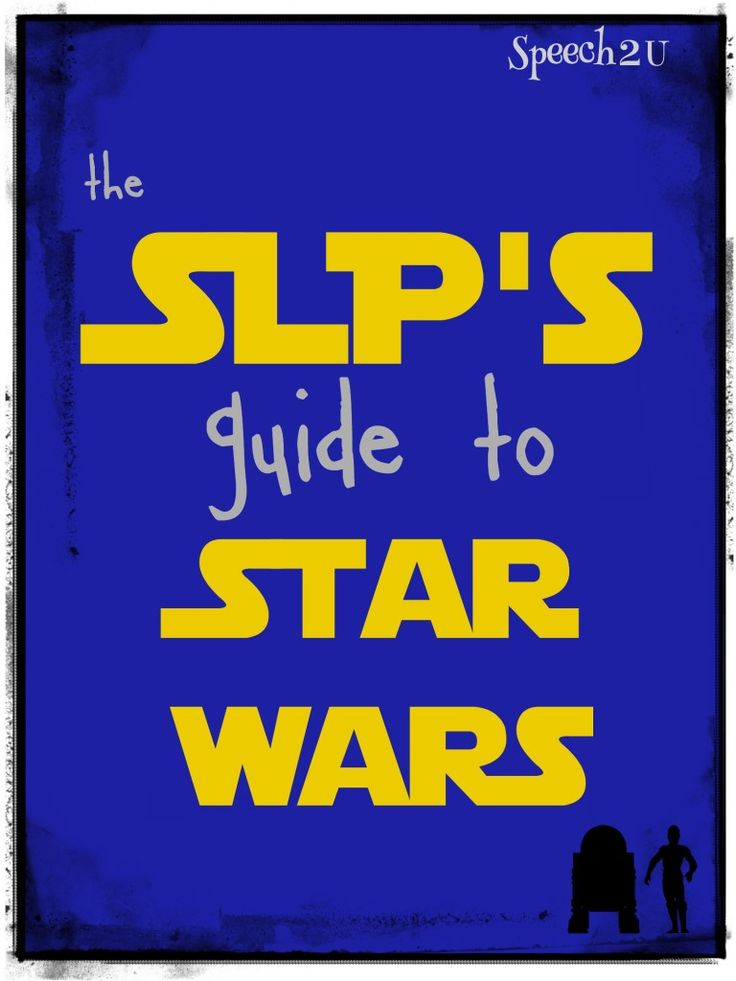 Ideas for speech therapy with a freebie from a Star Wars nerd.