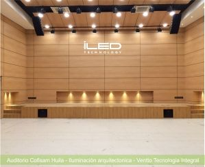 Iluminacion aduitorio Cofisam Huila -Ventto #iluminacion #lightingdesign #led #spotled #downlight