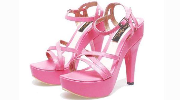 Sepatu sandal High Heels Girly Pink Cantik Terbaru Murah BSPS741