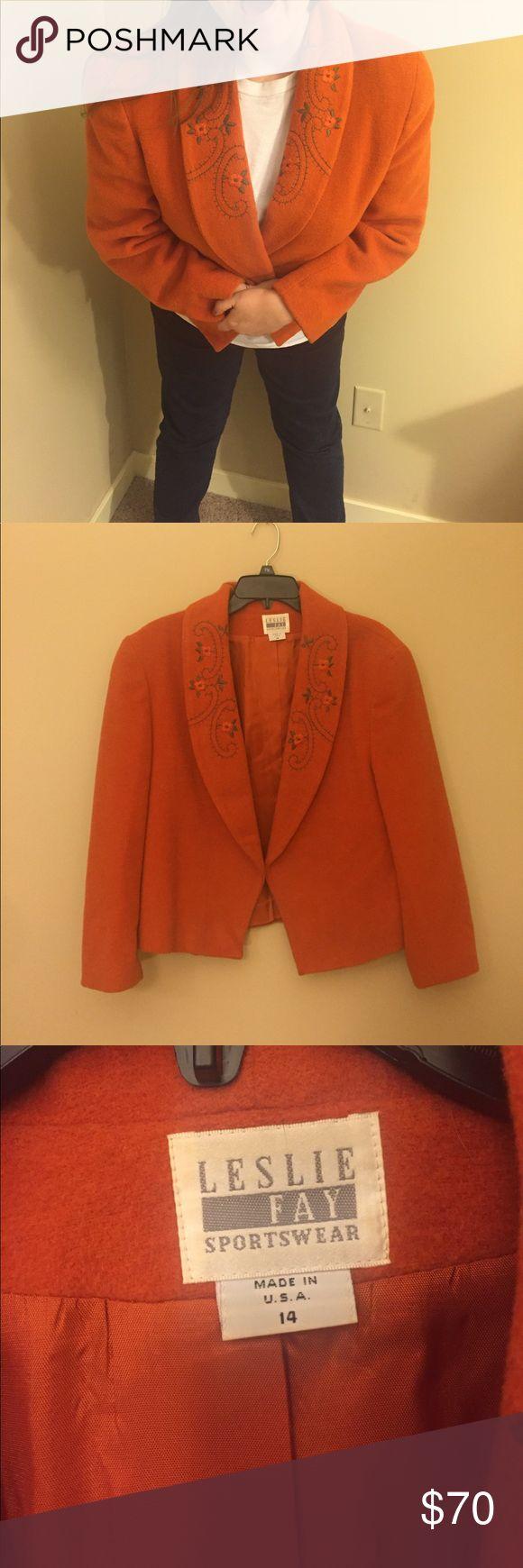 Vintage Leslie Fay sportswear coat Size 14 Leslie Fay Jackets & Coats