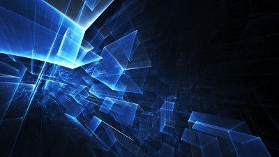 polygon, 3d, cube, green, orange, blue, background