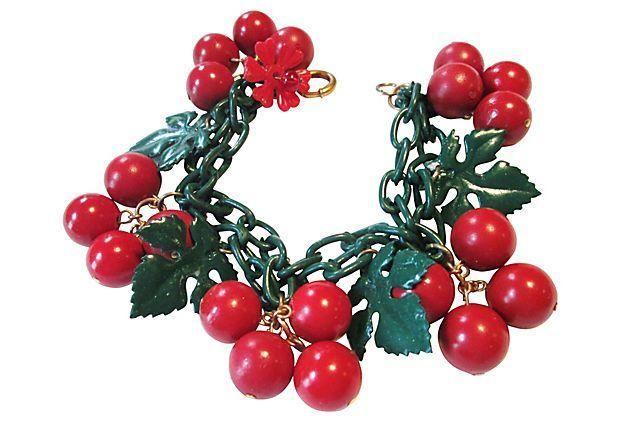 1960s Cherries Jubilee Bracelet on Chairish.com