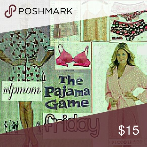 PG share group share group Sign in 1/4 Sharing begins at 9 a.m. and the group closes at approximately 6 p.m. and these are all Eastern Standard Time. Please share EIGHT items in the Intimates category. Please sign out when finished and let's make some sales. Please tag me with any questions or comments on the Q&A page in this section. Please finish sharing by midnight in your own time zone. No comments until group is closed. Intimates & Sleepwear