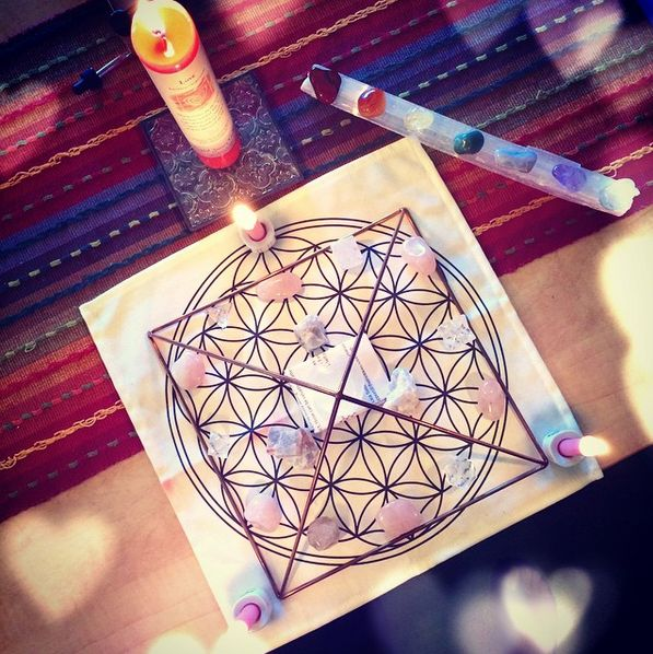 Crystal Grid for Love and Raising Vibes!