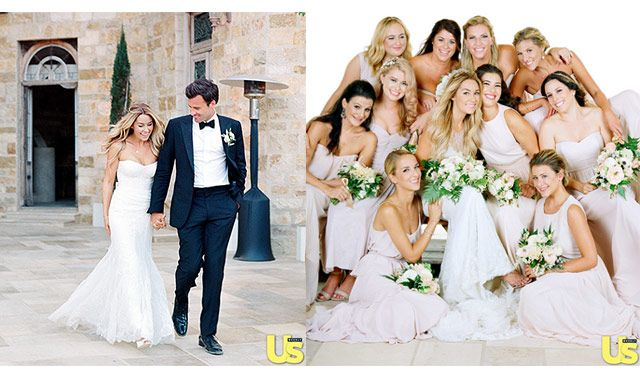Lauren Conrad's wedding was always going to be a stylish and creative affair, but it's fair to say her September 13 nuptials to William Tell exceeded everybody's expectations. Lauren wore a custom two-tone ivory gown and satin peau de soie heels designed by Badgley Mischka. Images: US Magazine