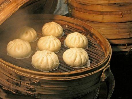 Pan chino relleno al vapor