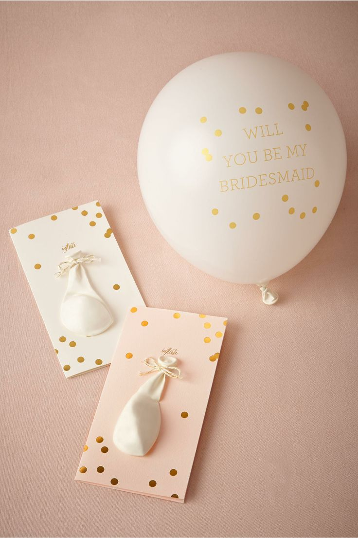 product | Pop-the-Question Maids Cards from BHLDN | a whimsical way to say, will you be my bridesmaid?