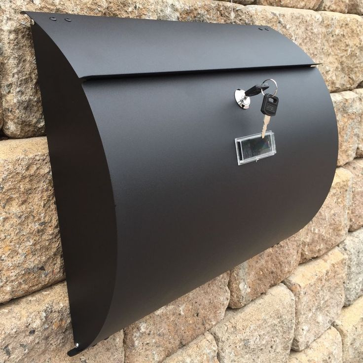 MPB1402B Semi Curve Lockable Mailboxes Painted Black Stainless Steel Letterbox