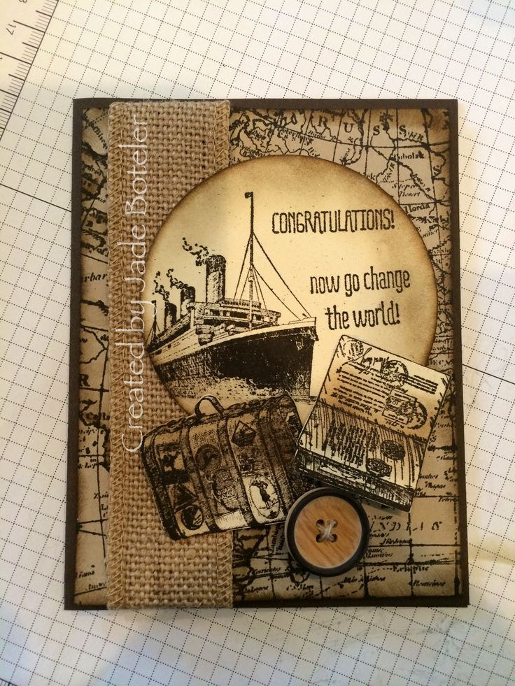 Masculine travel card Created by Jade Boteler