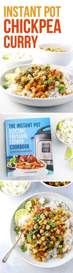 This Vegan Chickpea Curry recipe makes a fast vegetarian dinner when you cook it in the Instant Pot pressure cooker! Recipe from The Instant Pot Electric Pressure Cooker Cookbook. #AD