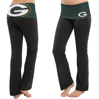 Green Bay Packers Ladies Sublime Knit Pants - Black