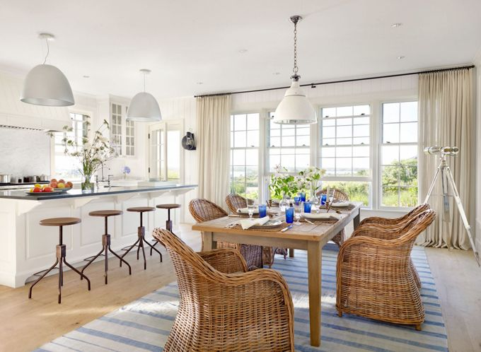 Coastal dining room victoria hagan interiors dining for Nantucket style kitchen