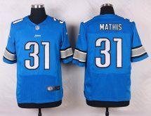 Detroit Lions #31 Rashean Mathis Men Elite Light Blue Jersey