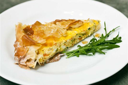 Vegetable filo pastry tart recipe | Favorite Recipes | Pinterest