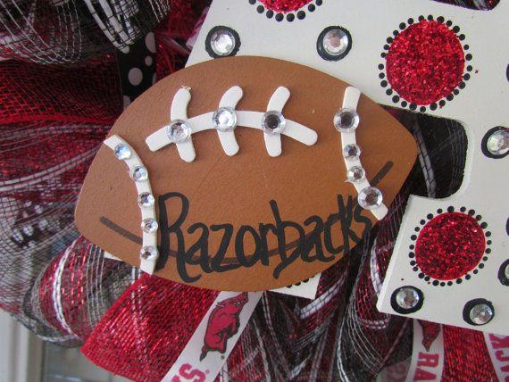 Bling Arkansas Razorback Wreath