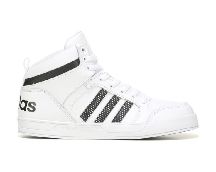 She can show her sporty side in the adidas Neo Raleigh High Top Sneaker.Leather and textile upper in an athletic high top basketball shoe styleLace-up front, padded tongue and collarOverlay accentsLogo detailsTextile lining with a cushioning footbedRubber traction outsole