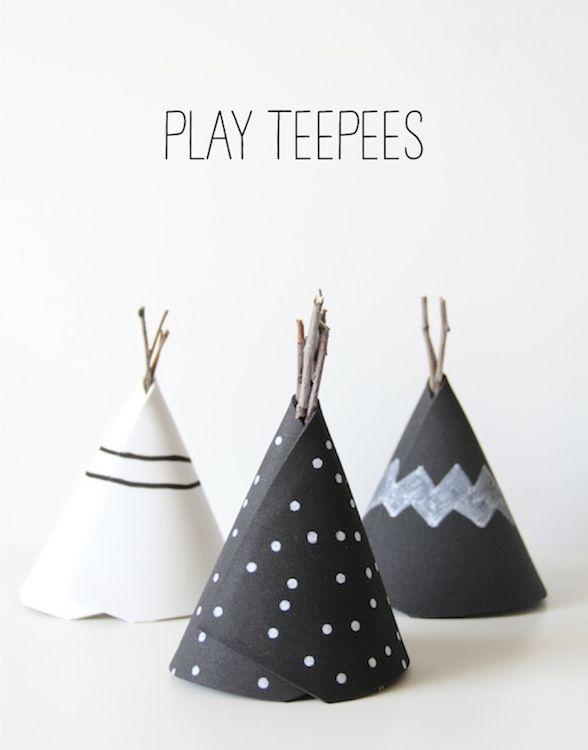 DIY play teepees!