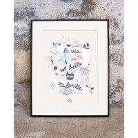 ❤️❤️Emoi Emoi Affiche La vie est belle en famille - Michelle Carlslund x émoi émoi