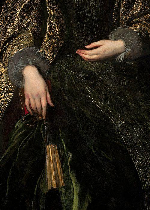 Portrait de la marquise Balbi, vers 1623 Anthony van Dyck Détail