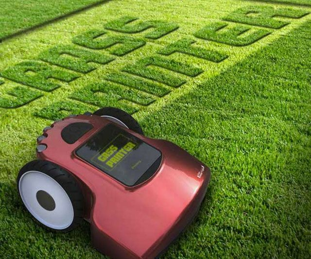 product design . Grass Printer | I would totally care about my lawn if i had one of these!!