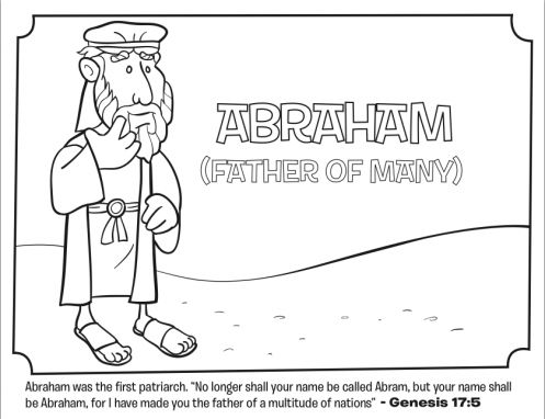 Kids Coloring Page From Whats In The Bible Featuring Abraham Genesis 175