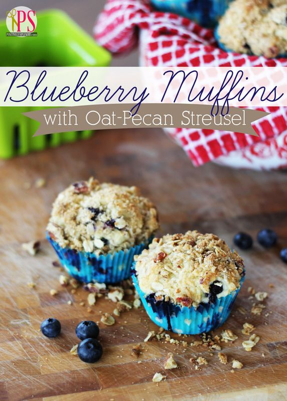 ... Blueberries Muffins Recipe, Oats Pecans Streusel, Streusel Tops