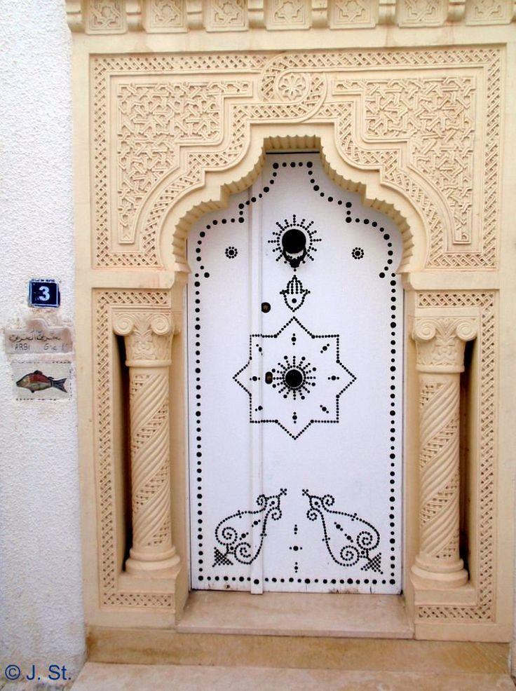 Africa   A main door in the medina of Mammamet.  Tunisia   © Yogi58, via Flickr