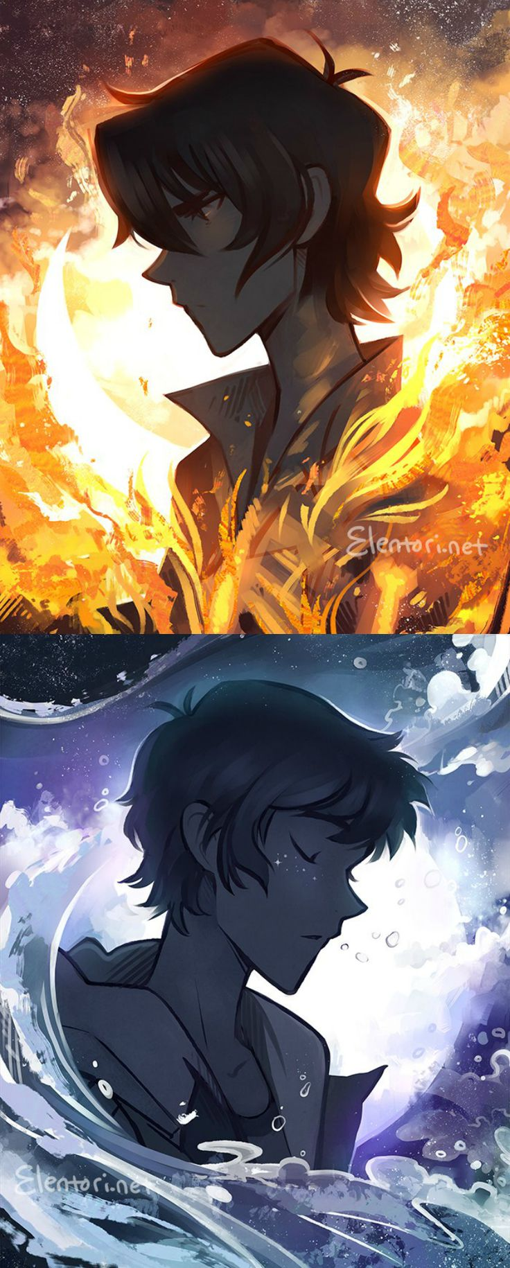 VLD fanart - Of Flames and Crystals Keith / Lance