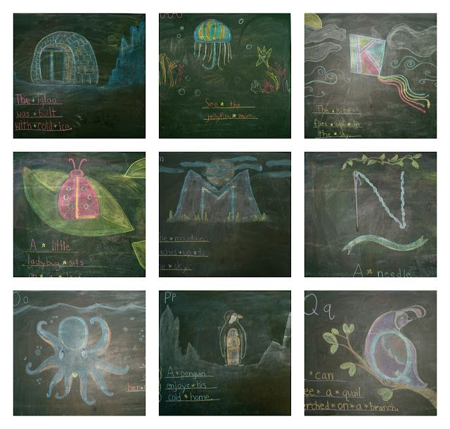 Home School- Waldorf Alphabet on the Chalkboard