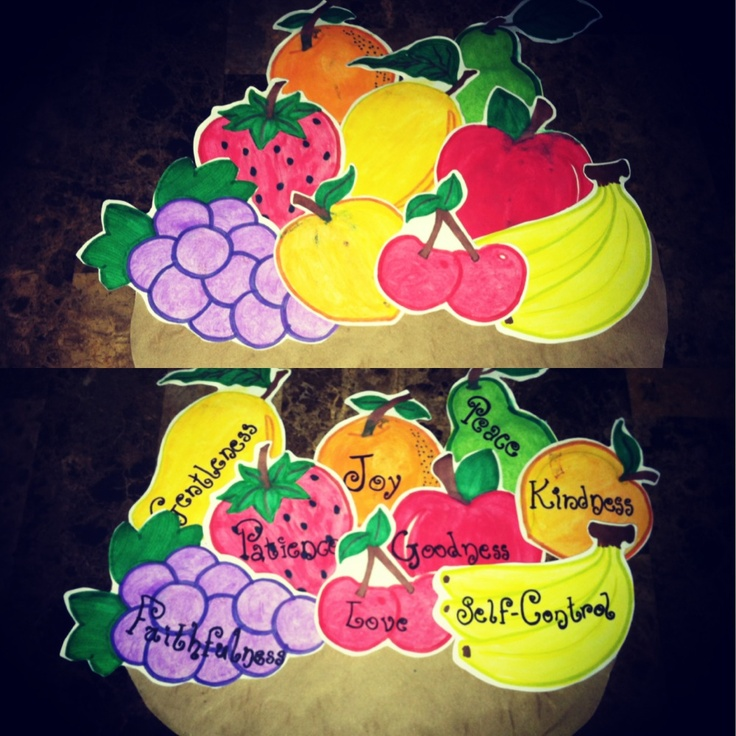 127 best images about fruit of the spirit on pinterest for Childrens sunday school crafts
