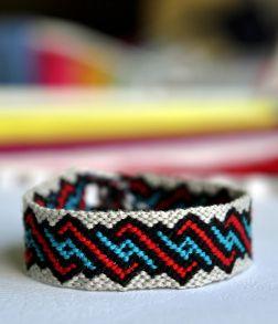Friendship bracelet, made by me :)