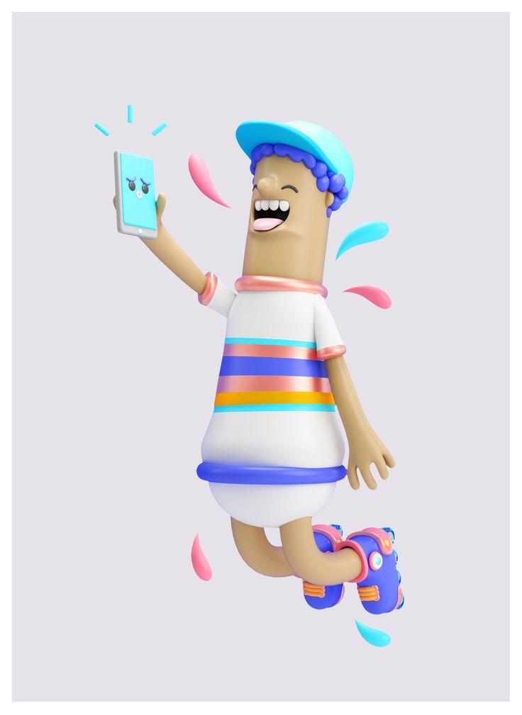 Illustration 3D, Character 3D, C4D