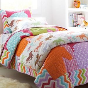 Coloured Ponies Quilt