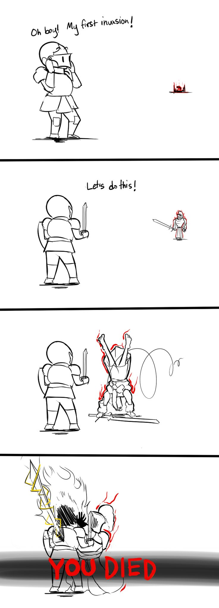 My experience with Dark Souls so far via Reddit
